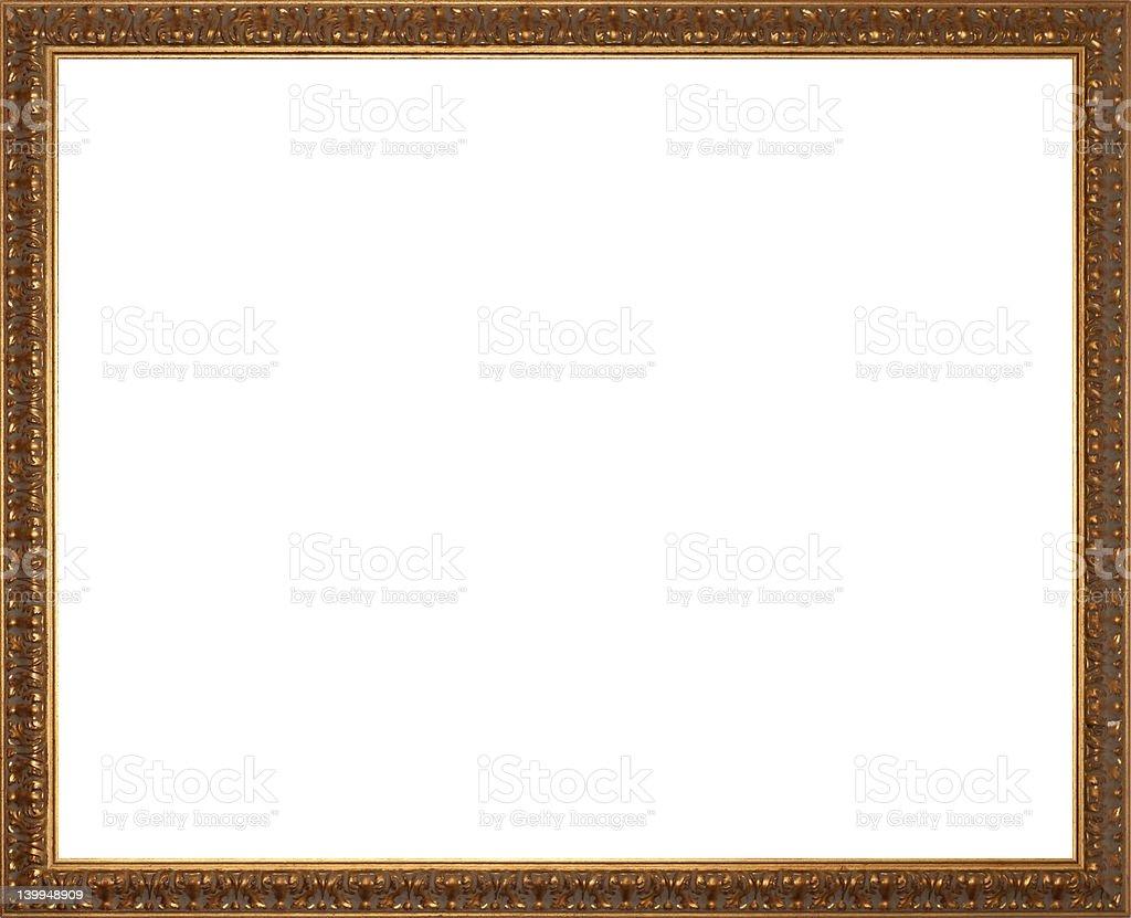 Rectangular Golden Picture Frame stock photo