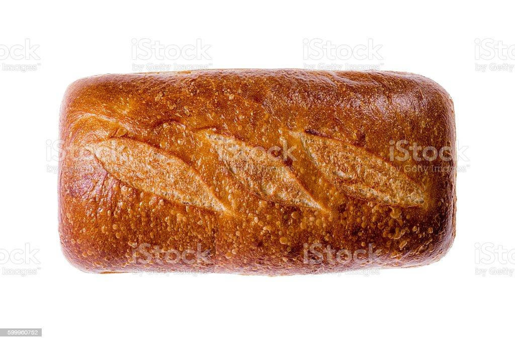 Rectangular loaf of sourdough bread stock photo