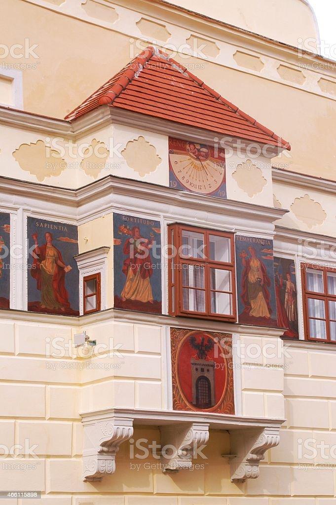 Rectangular Oriel of the Town Hall of Eisenstadt stock photo