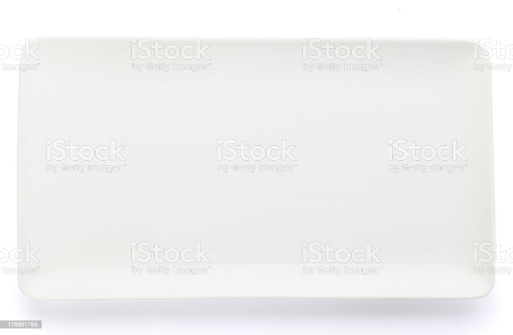Rectangular Plate royalty-free stock photo