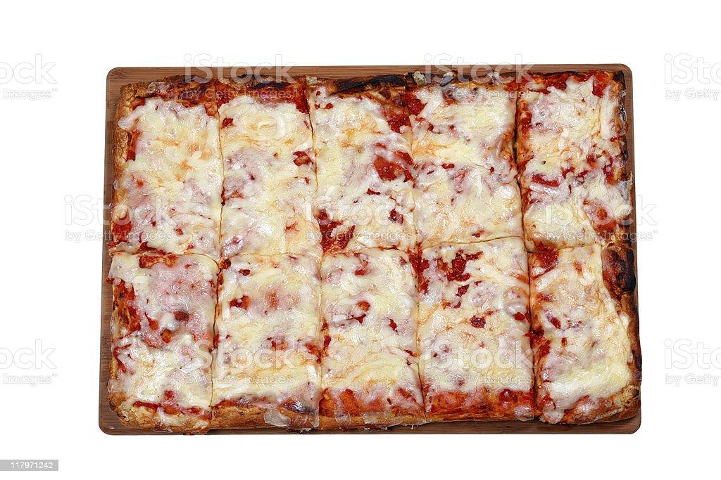Rectangular Sicilian Pizza Pie royalty-free stock photo