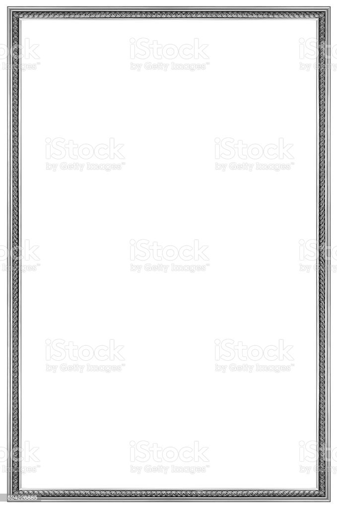 Rectangular Silver Picture Frame stock photo