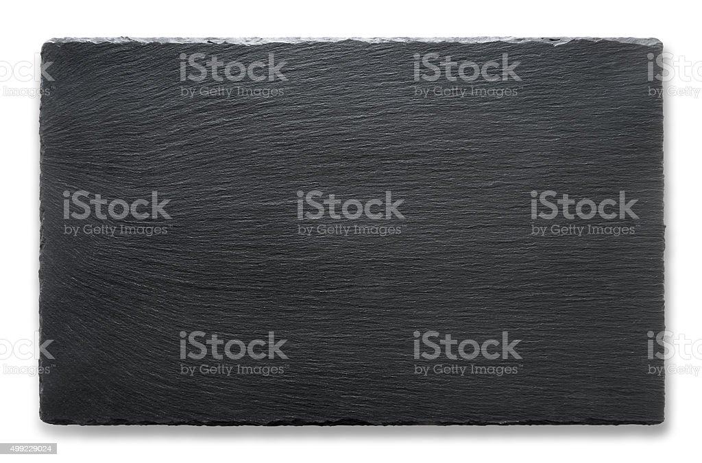 Rectangular slate stand stock photo