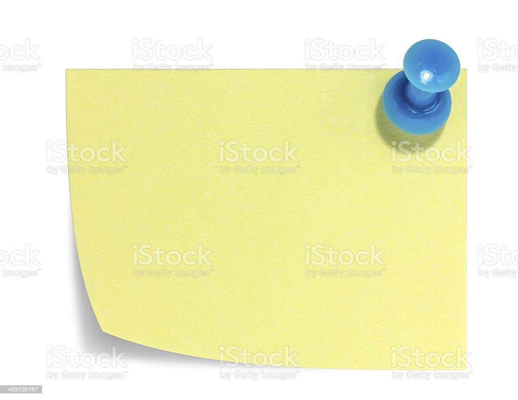 Foglietto Rettangolare, blu, pin e ombra foto stock royalty-free