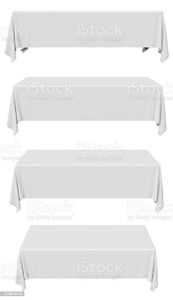 Rectangular tablecloth collection stock photo