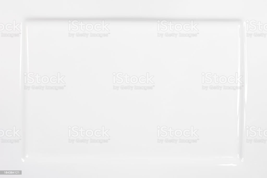 Rectangular White Plate Background stock photo