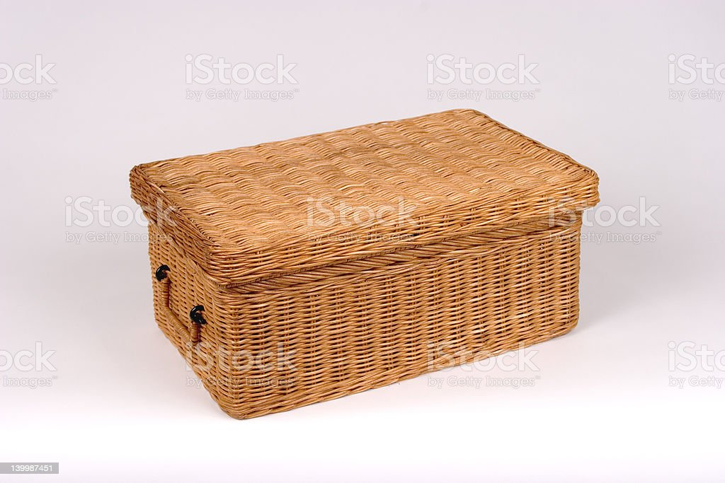 Rectangular Wicker Basket royalty-free stock photo
