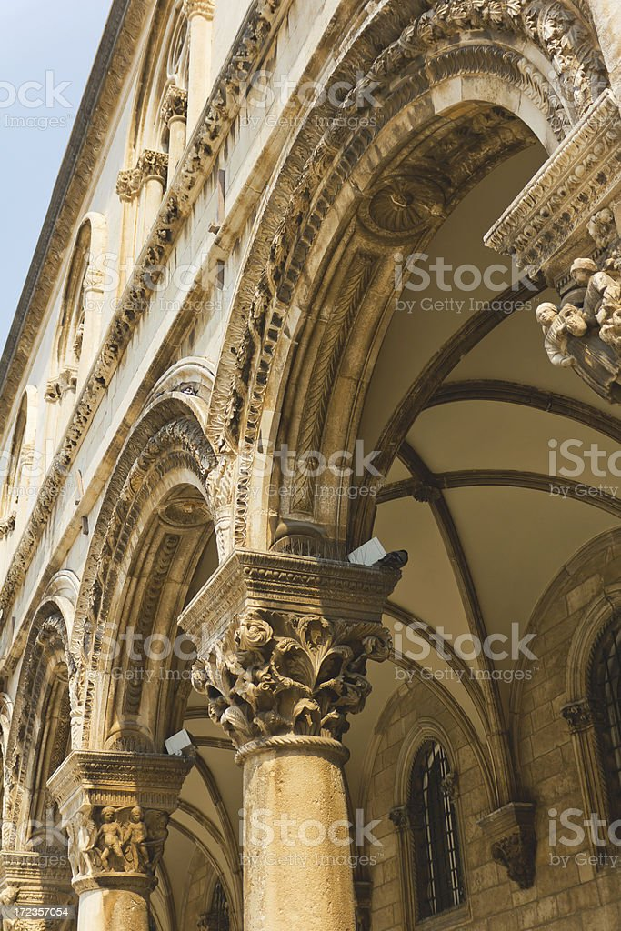 Rectors Palace in Dubrovnik, Croatia royalty-free stock photo