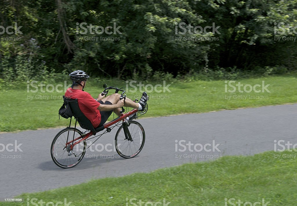 Recumbant Bicycle stock photo