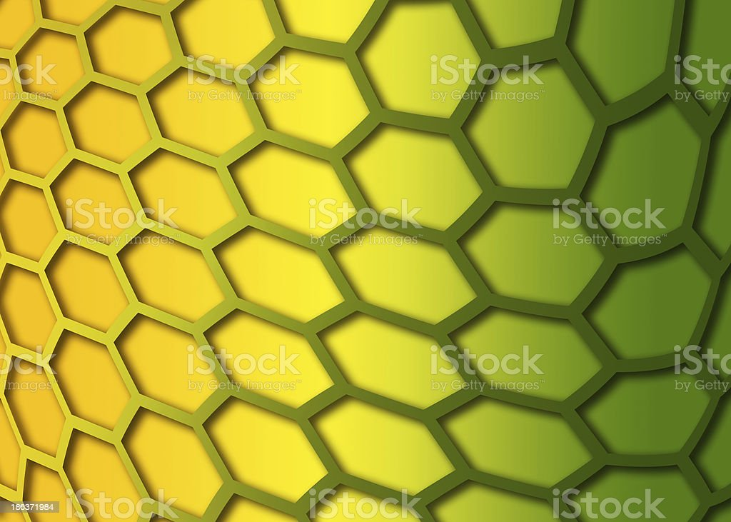 recurrent curved hexagonal wallpaper, background. royalty-free stock photo
