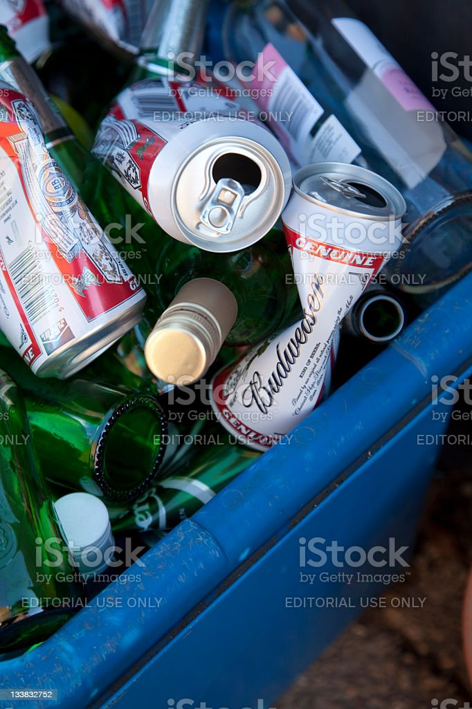 Recyclable Domestic Waste stock photo