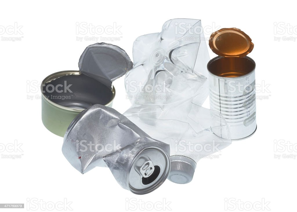 Recyclable garbage isolated on white background royalty-free stock photo
