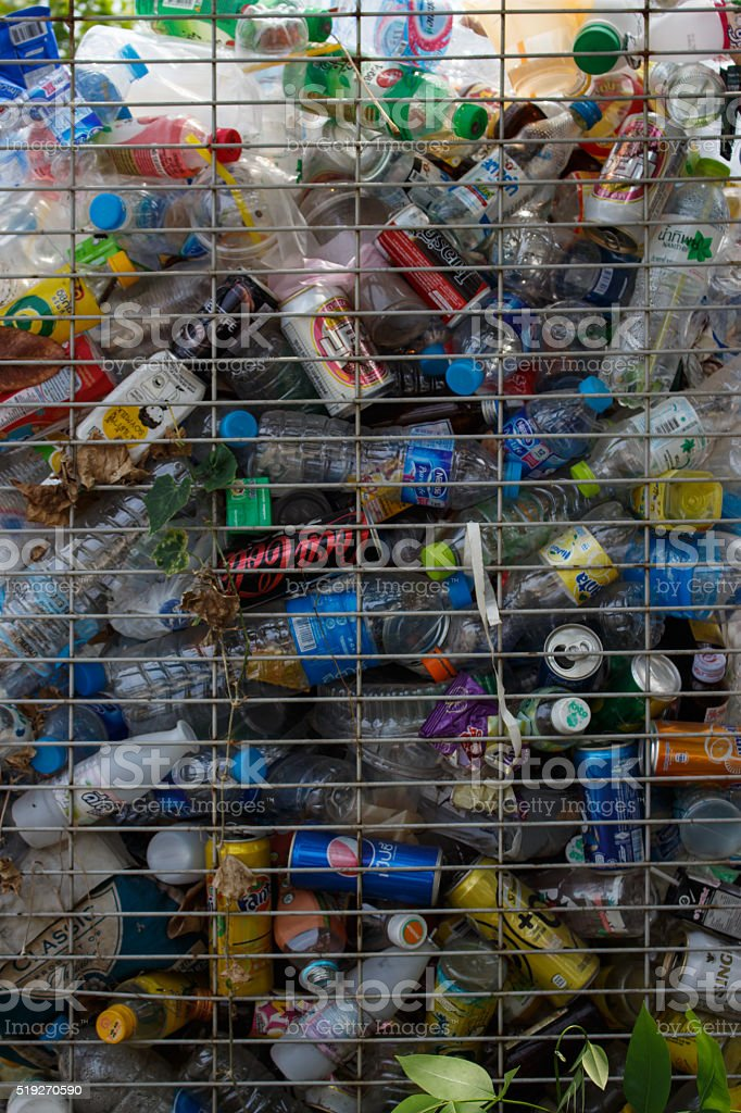 Recyclable garbage stock photo