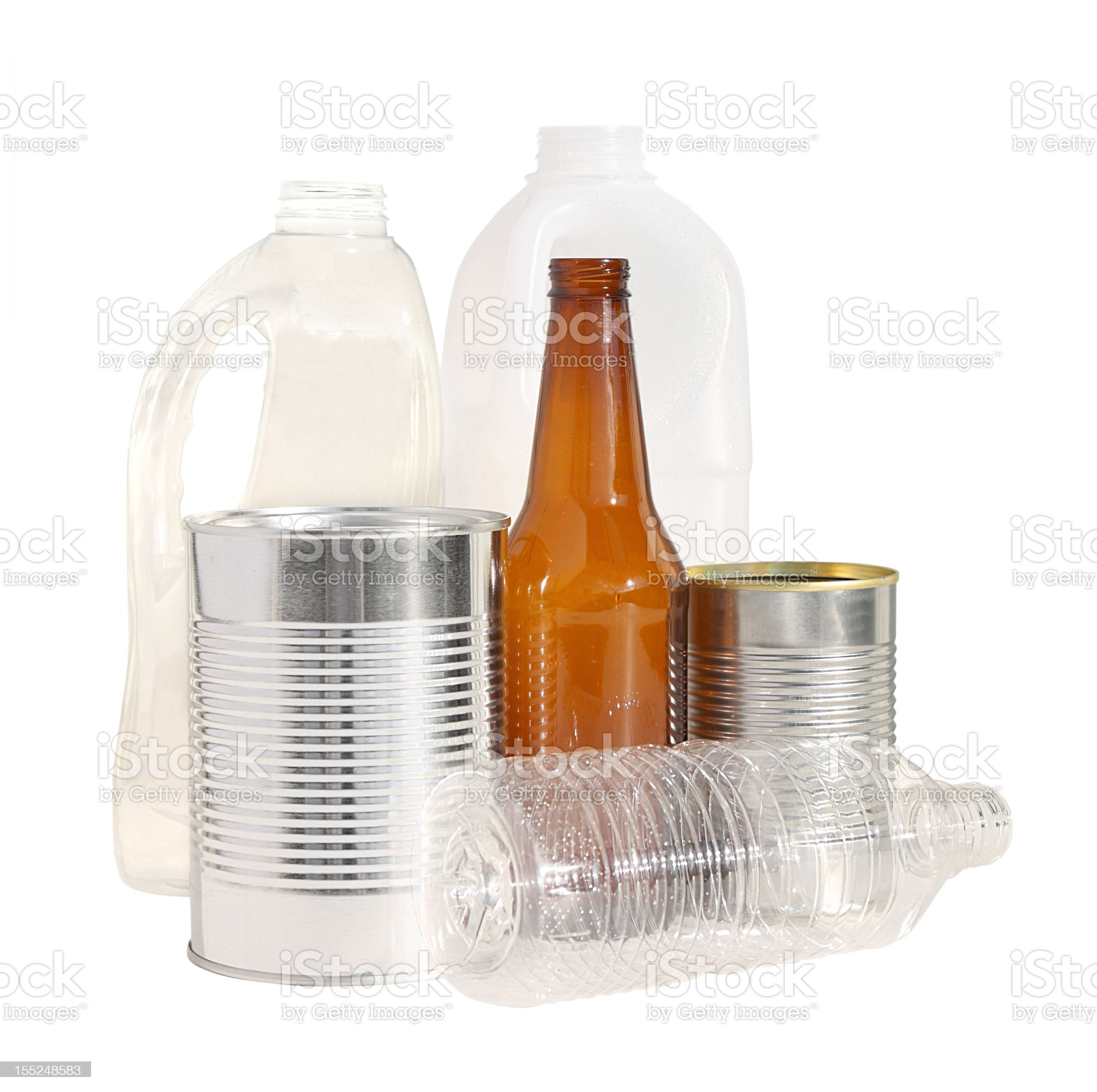 Recyclable material isolated w/ clipping path royalty-free stock photo