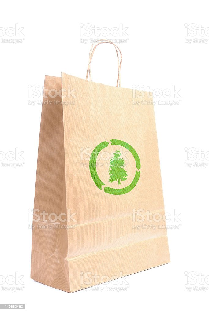 Recyclable paper bag royalty-free stock photo