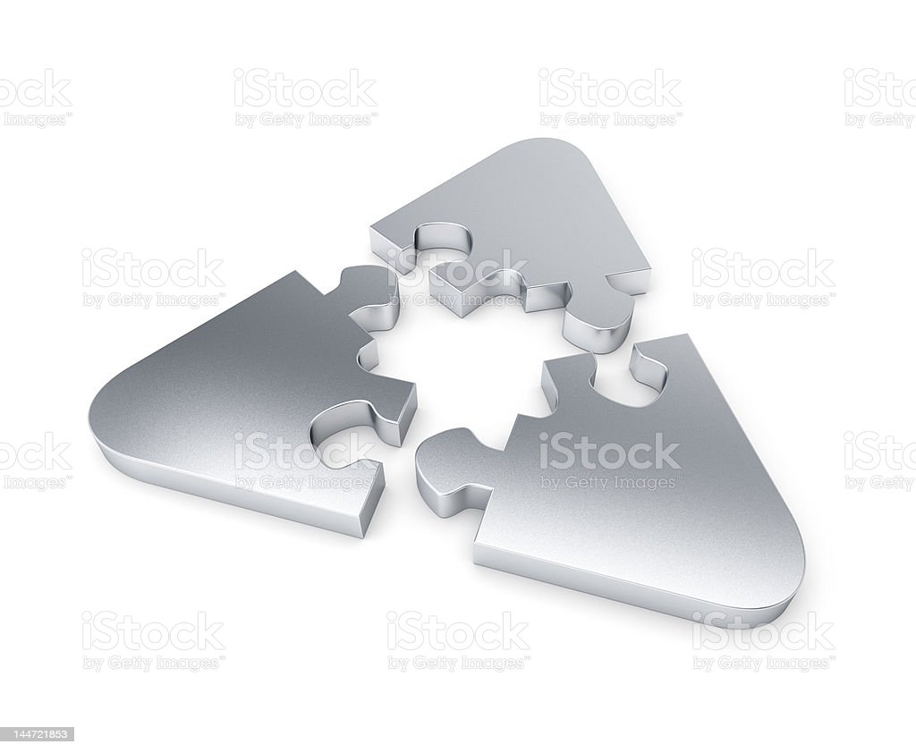 Recyclable puzzle royalty-free stock photo