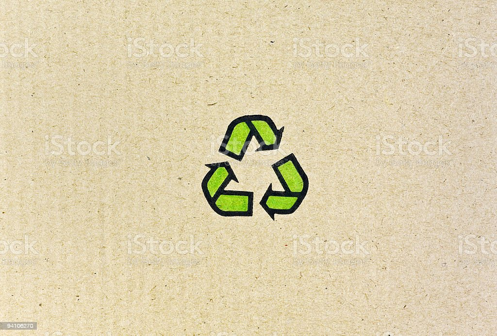 Recyclable Symbol royalty-free stock photo