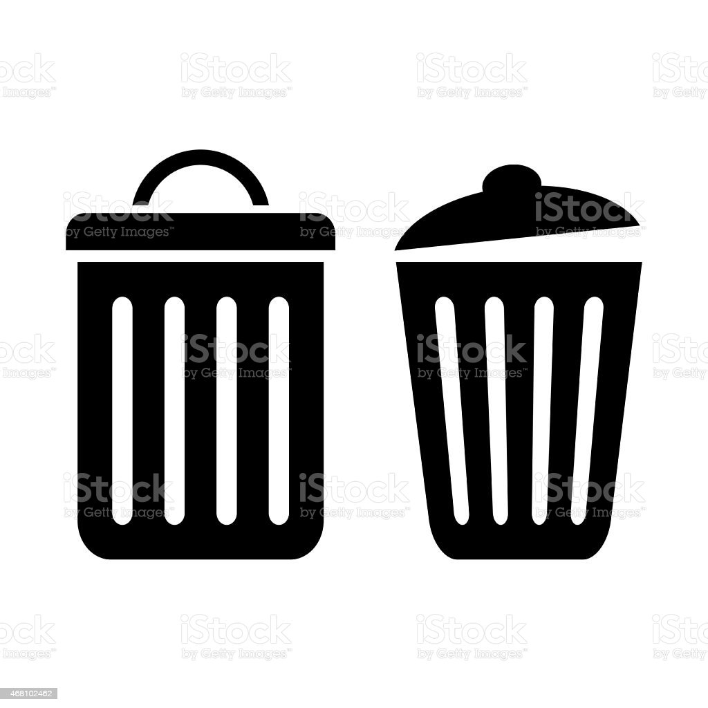 Recycle bin icon stock photo