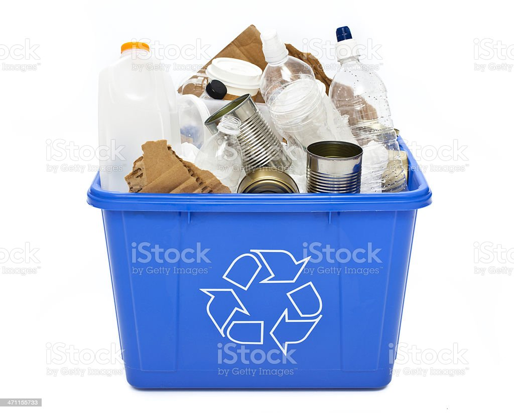Recycle Bin Isolated royalty-free stock photo