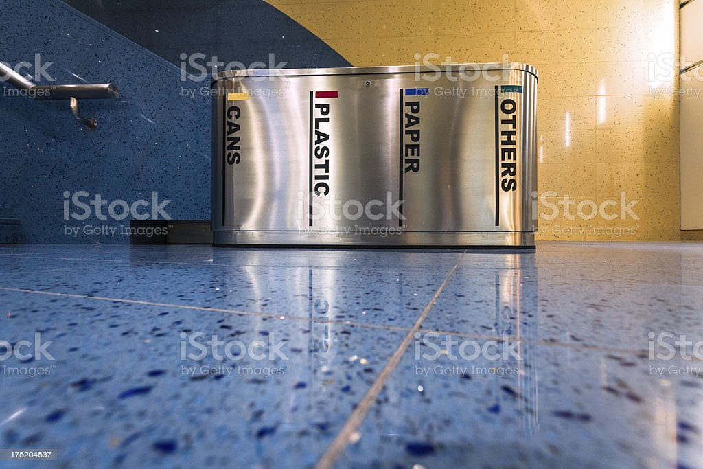 Recycle Bin of Cans, Plastc, Paper and others Materials royalty-free stock photo