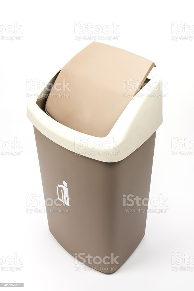 Recycle Bins Isolated Over White Background. royalty-free stock photo