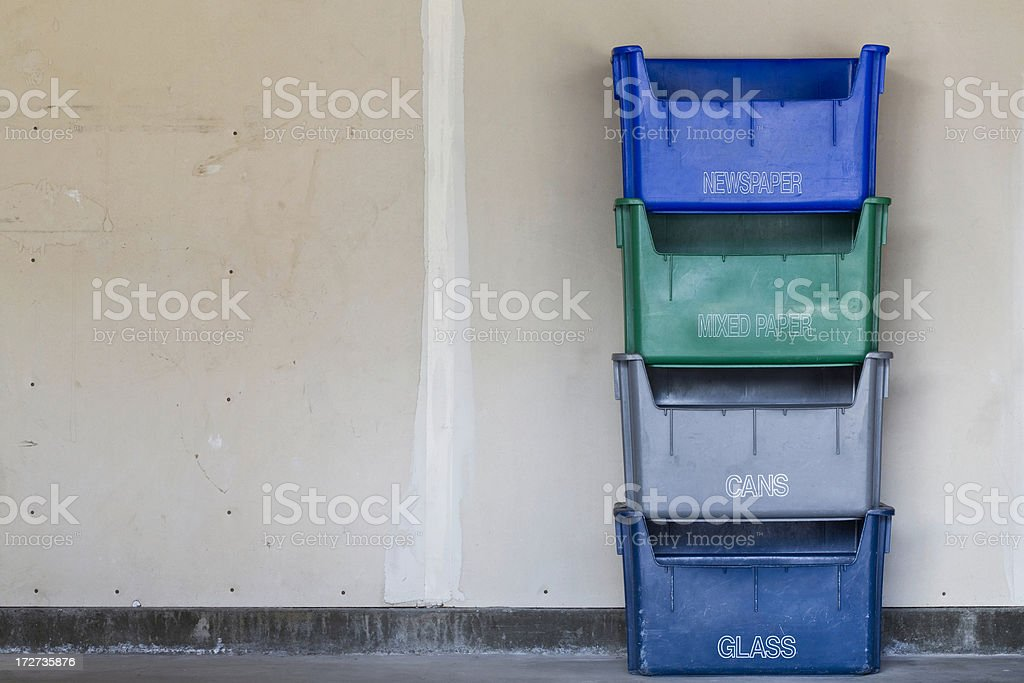 Recycle Bins royalty-free stock photo