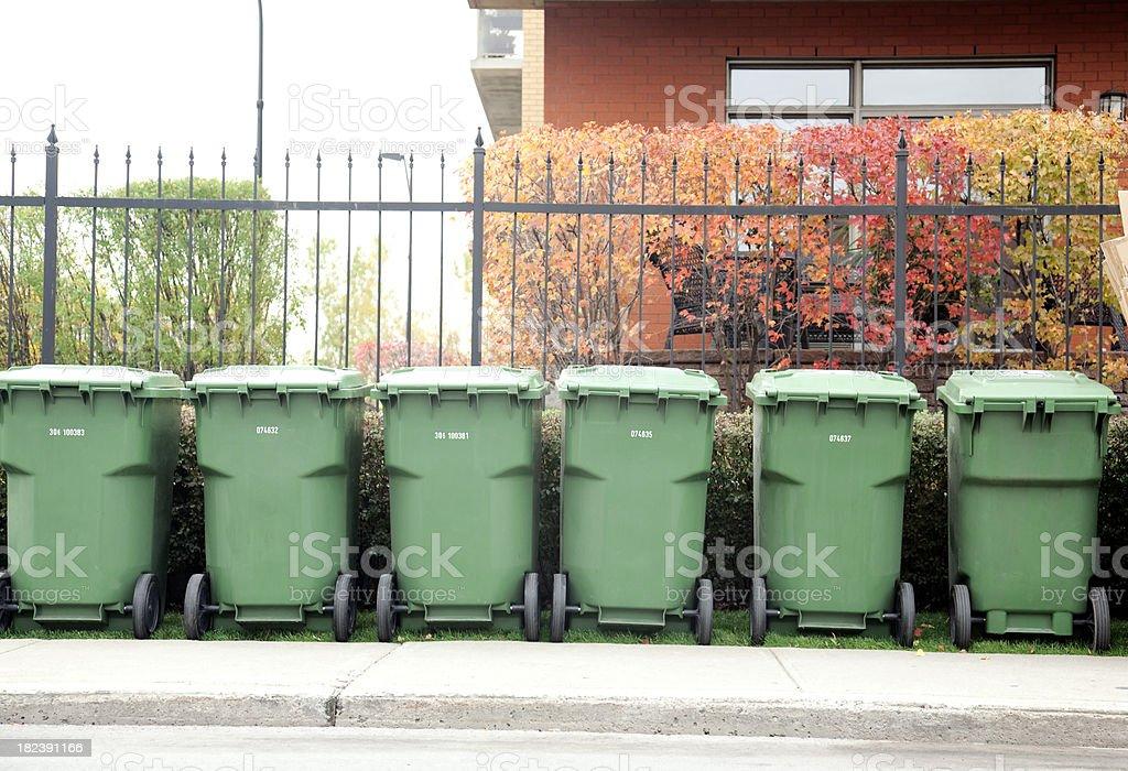 Recycle bins stock photo