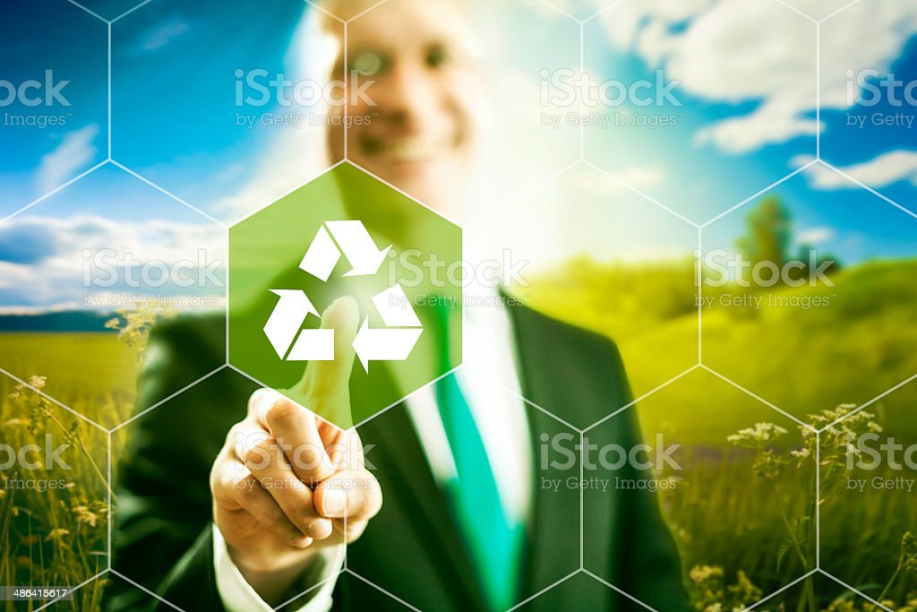 Recycle business concept stock photo