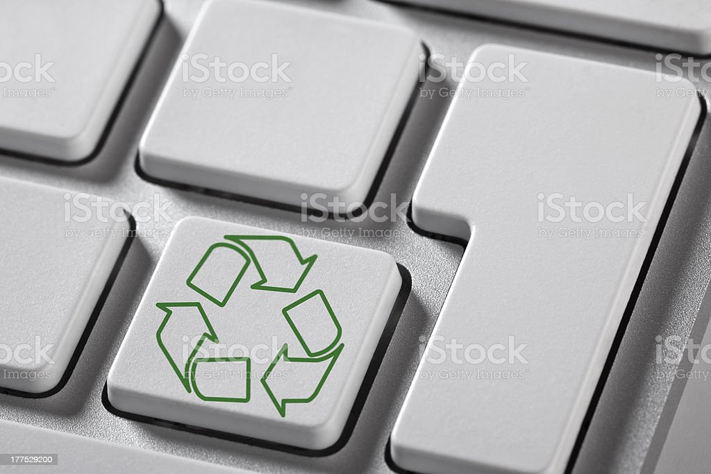 Recycle Button royalty-free stock photo