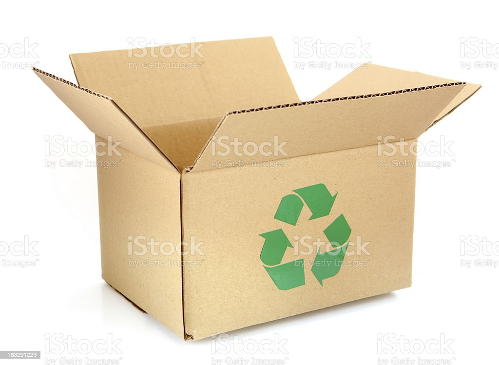 Recycle Cardboard Box stock photo