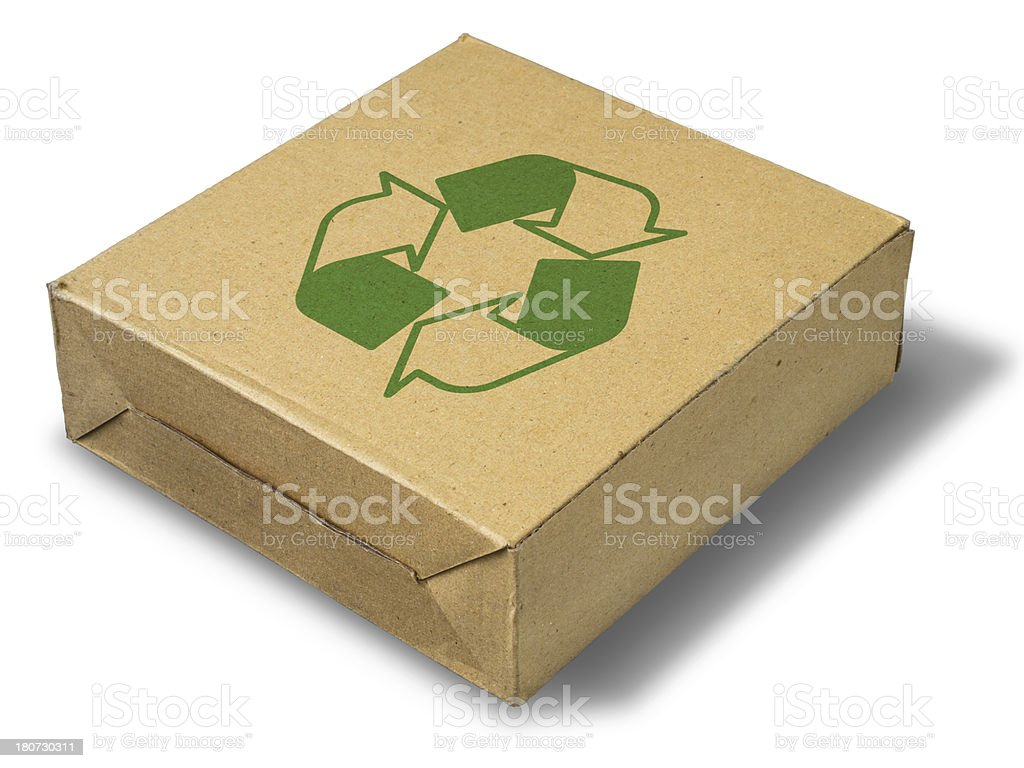 recycle close brown paper box royalty-free stock photo