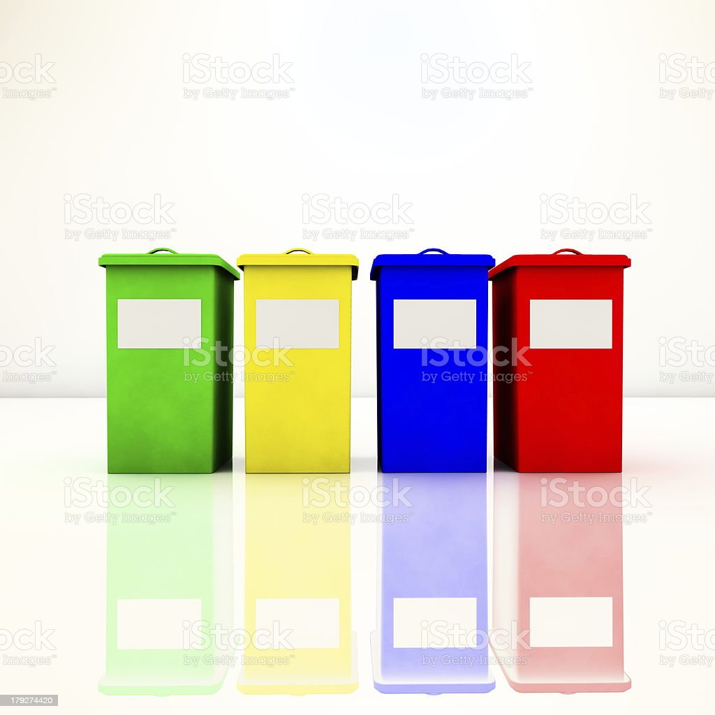 Recycle containers royalty-free stock photo