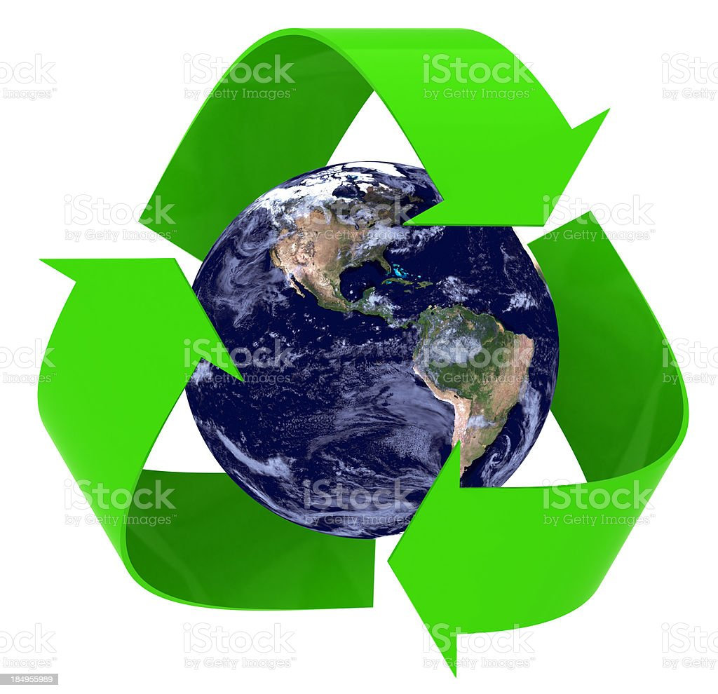 Recycle Earth royalty-free stock photo