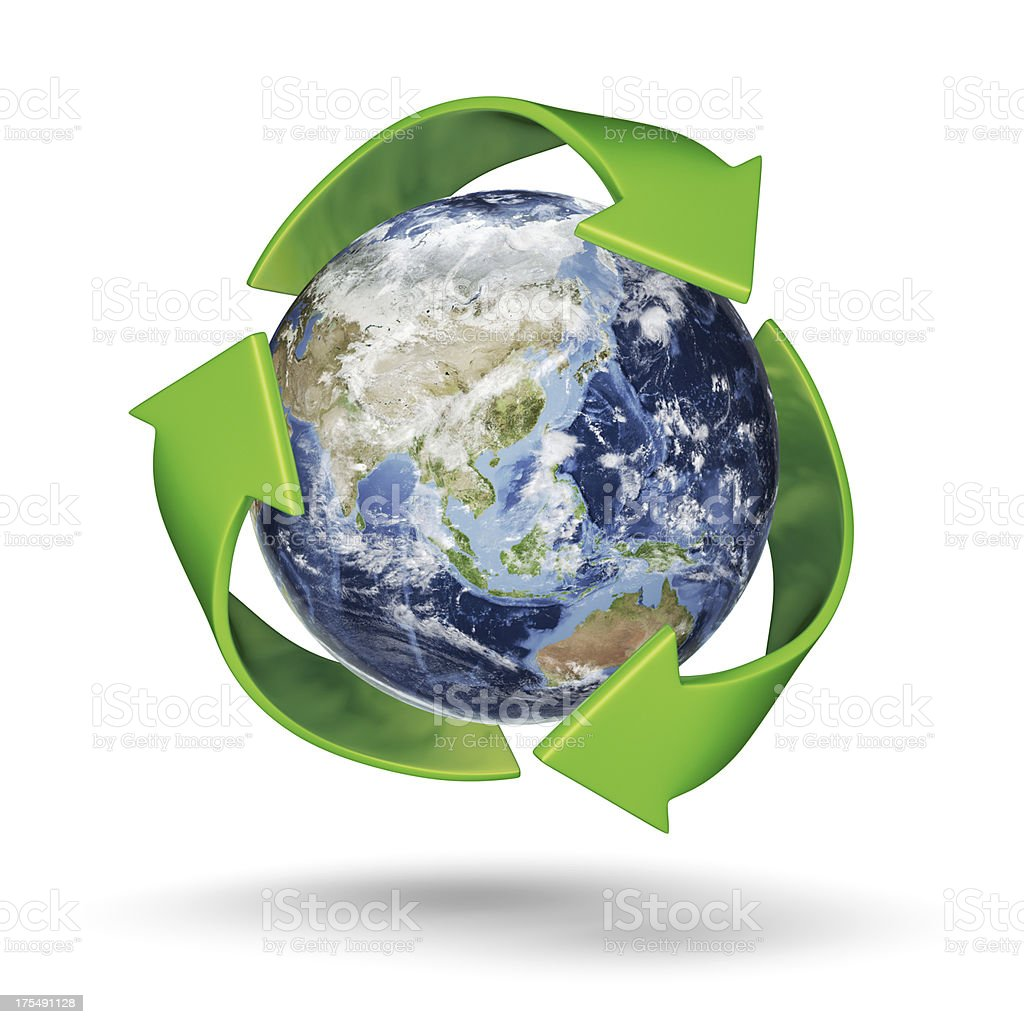 Recycle Earth - South East Asia royalty-free stock photo