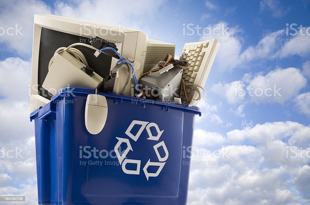 Recycle Electronics stock photo