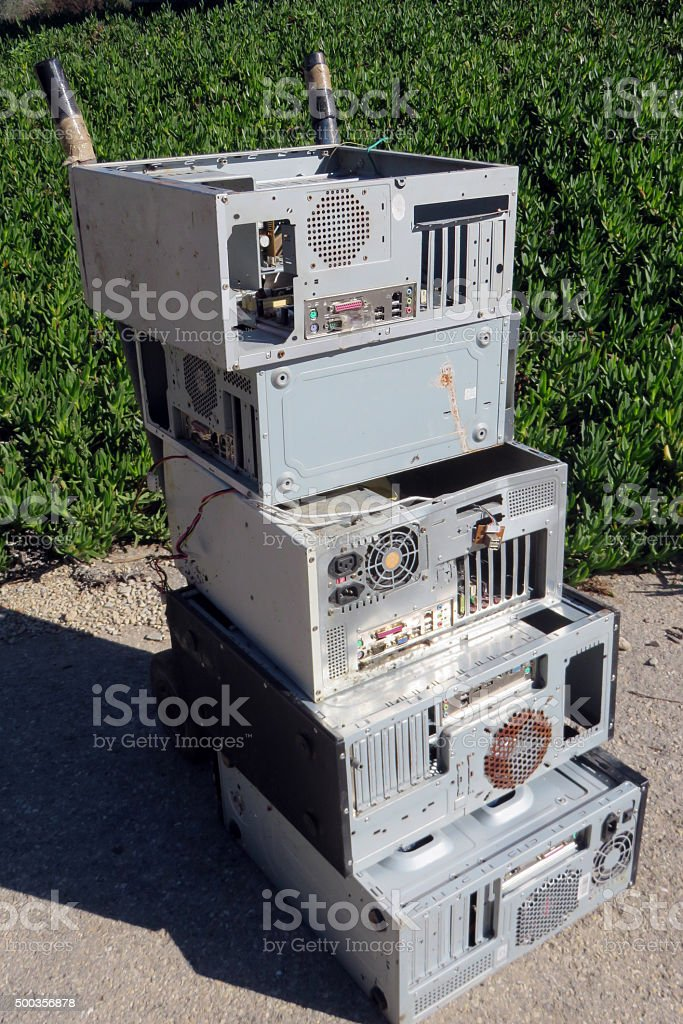 Recycle Electronics stock photo