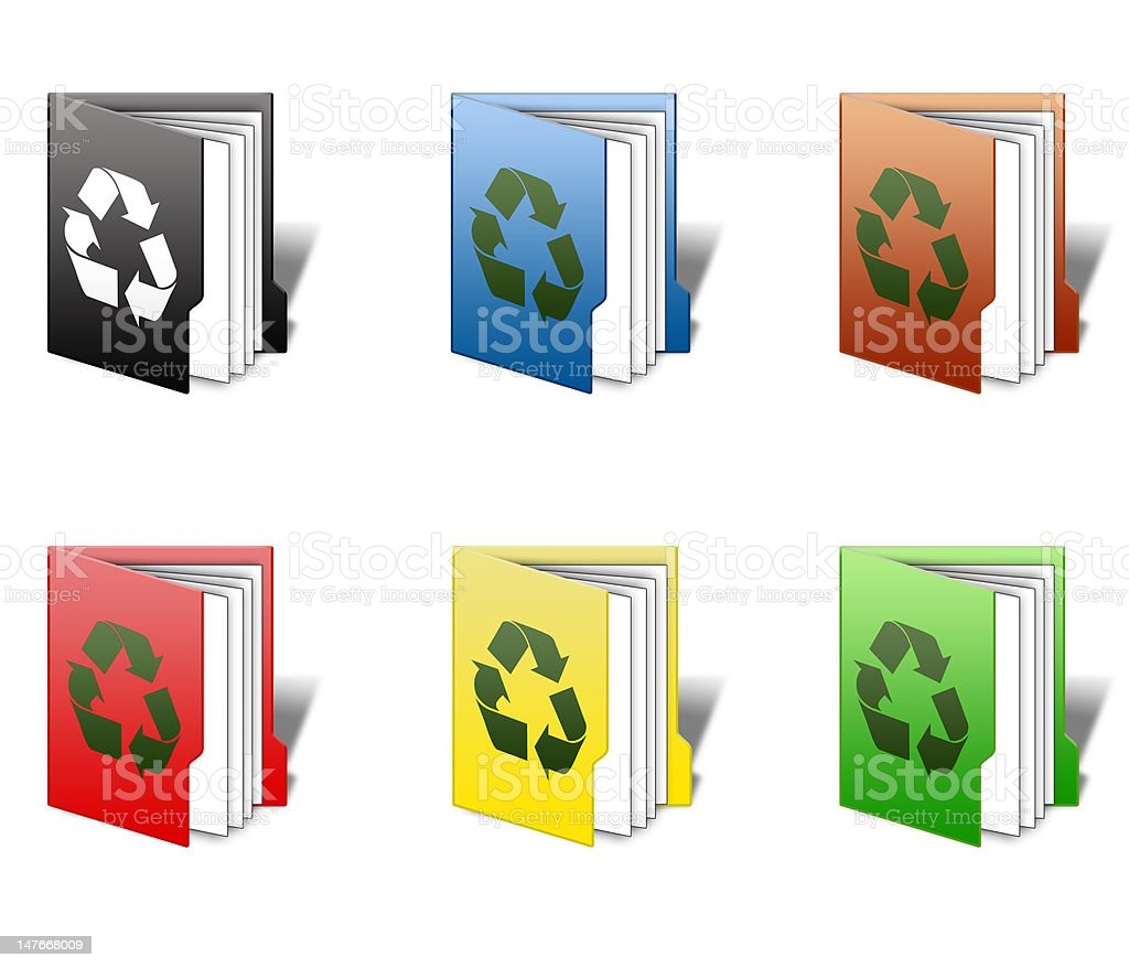 Recycle Folder Icons royalty-free stock photo