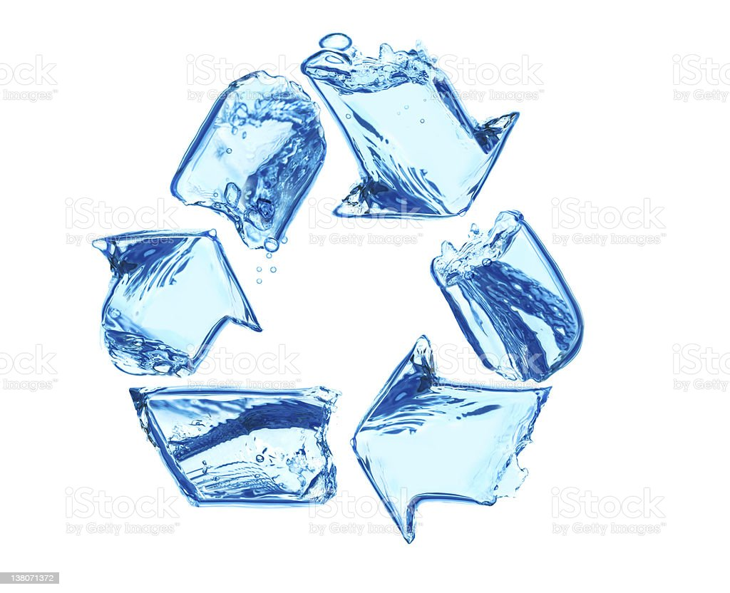 Recycle for clean water stock photo