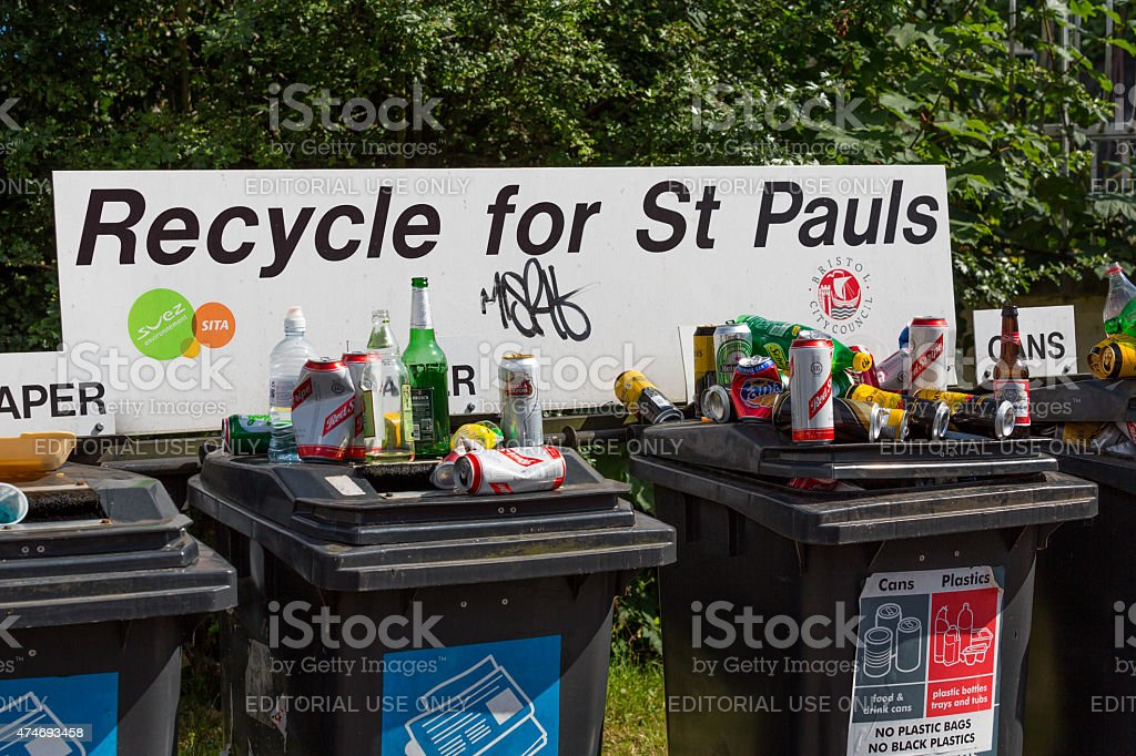 Recycle for St Pauls stock photo