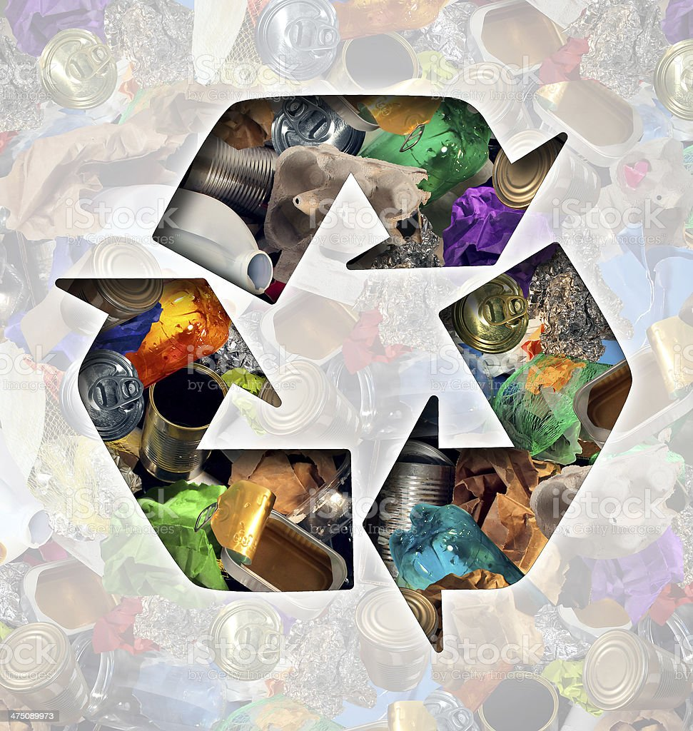 Recycle Garbage Concept stock photo