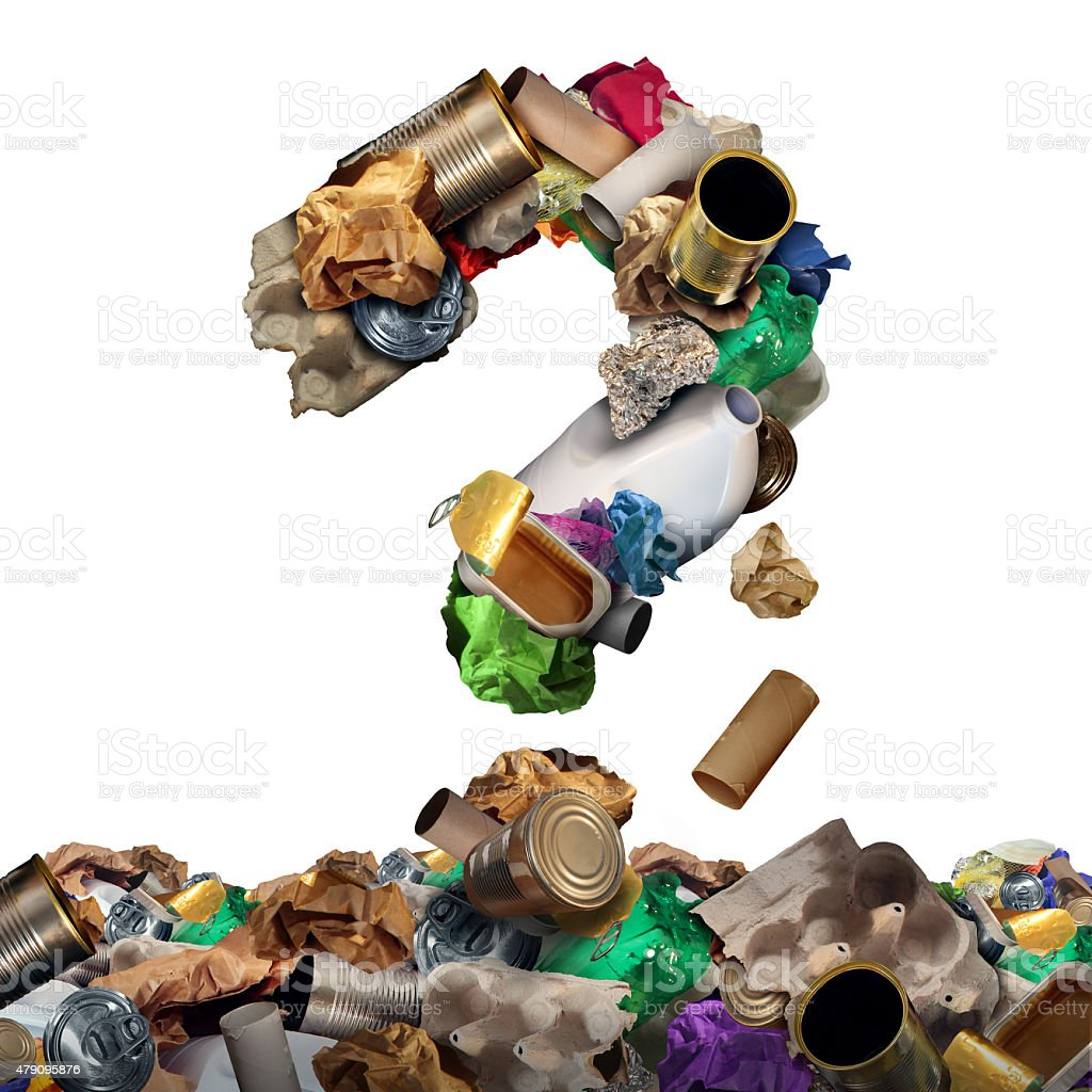 Recycle Garbage Question stock photo