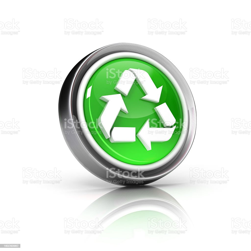 Recycle icon royalty-free stock photo