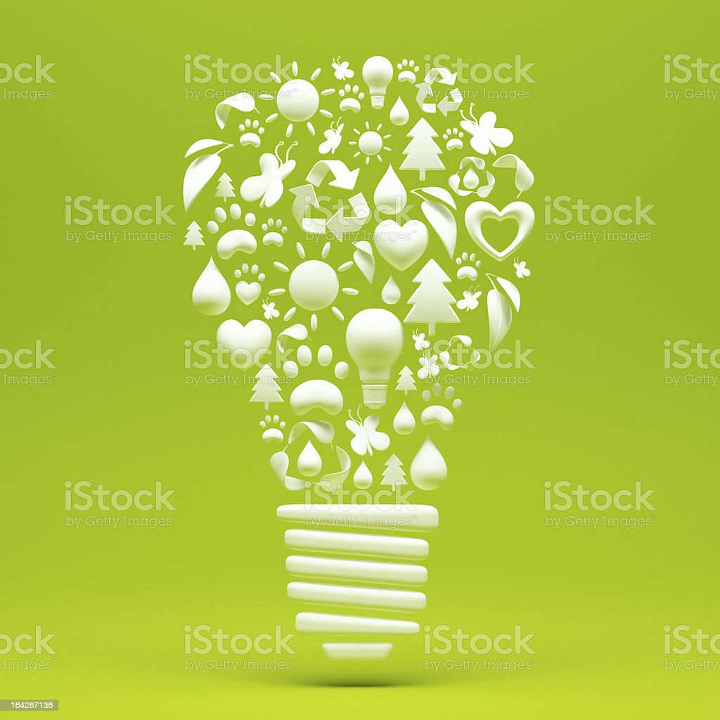Recycle Light Bulb royalty-free stock photo