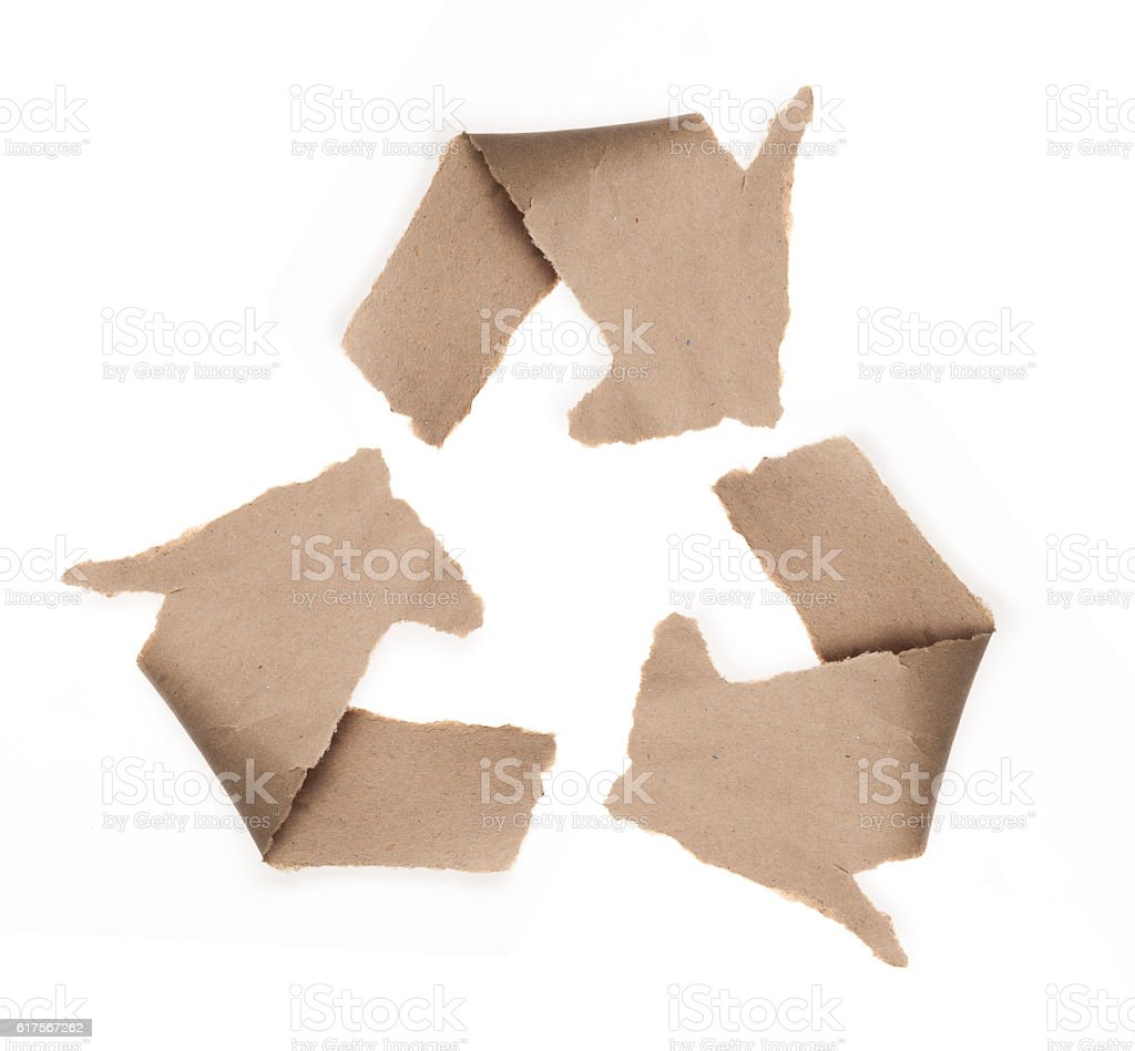 Recycle Logo From Recycle Paper stock photo
