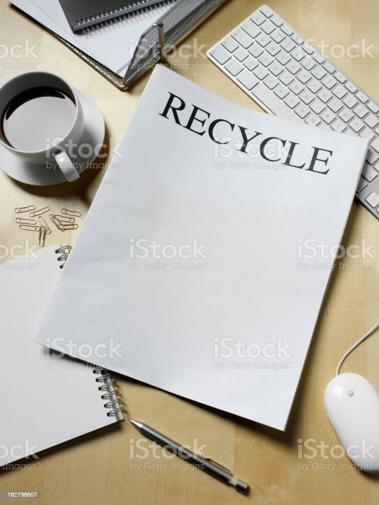 Recycle Newspaper royalty-free stock photo