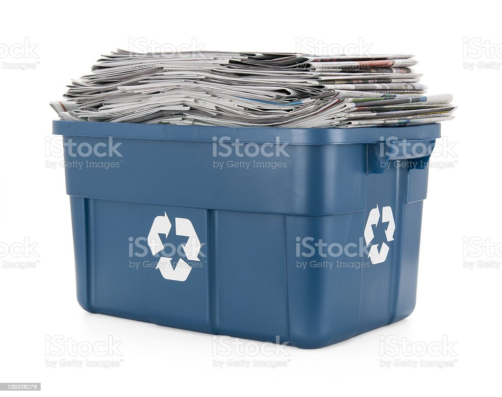 Recycle Newspapers royalty-free stock photo