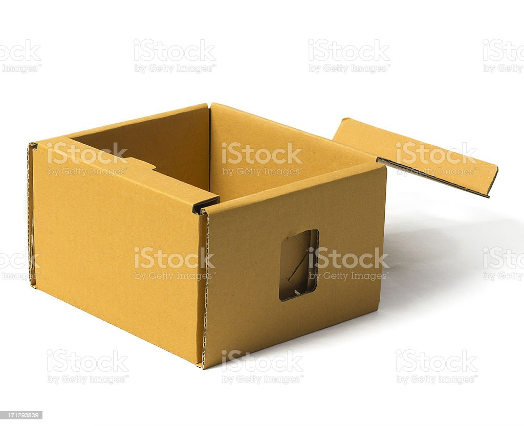Recycle Paper Box stock photo