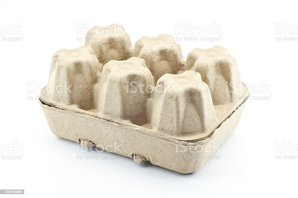 Recycle paper eggs tray. royalty-free stock photo