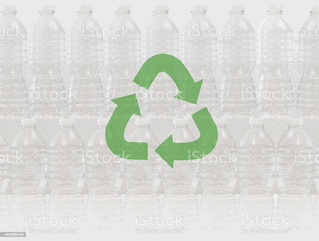 Recycle plastic bottles to help keep the planet clean stock photo