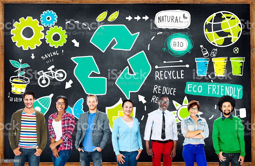 Recycle Reuse Reduce Bio Eco Friendly Environment Concept stock photo
